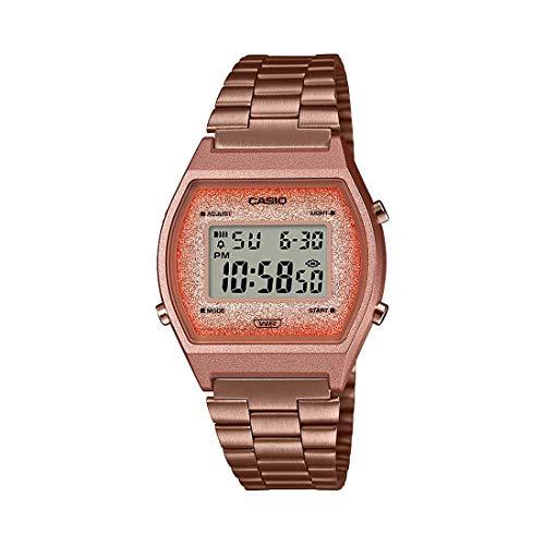 Relógio Casio Feminino Glitter Vintage Rosé B640WCG-5DF