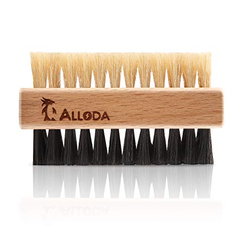 Shoe Cleaning Brush/Scrub Brush by Alloda - [Upgrade] Protect Double Sided Soft & Hard Sneaker Cleaner Brush by 100% Boar & Nylon bristle