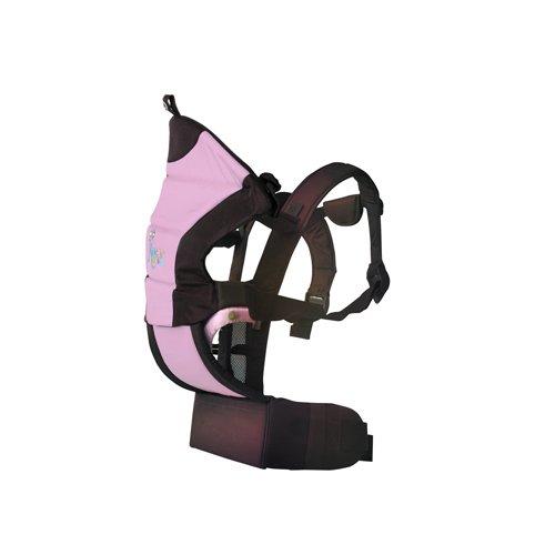 Kiokids 1020–Mochila portabebés/Mochila para 3posiciones, color rosa/marrón