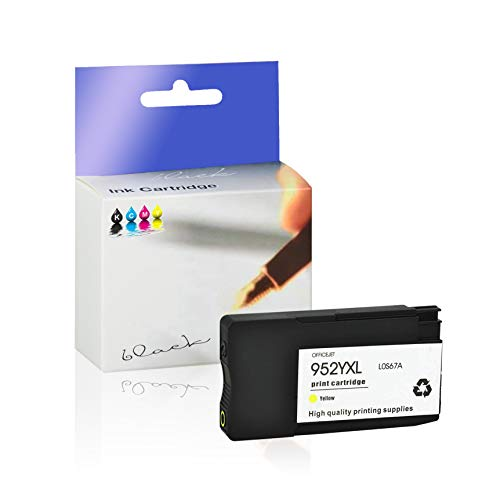KCMYTONER 1 Pack Remanufactured 952XL 952 XL Ink Cartridge Yellow High Yield LOS67A for Officejet Pro 7740 8210 8216 8218 8745 8747 8725 8730 OfficeJet 7740 8702 8715 Printers