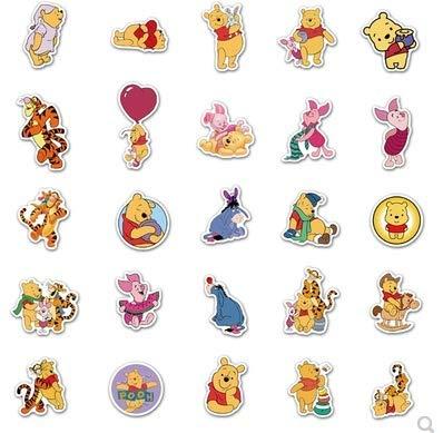 DSSJ Cartoon Winnie The Pooh Skateboard Water Cup Laptop Graffiti Waterproof Sticker 50pcs