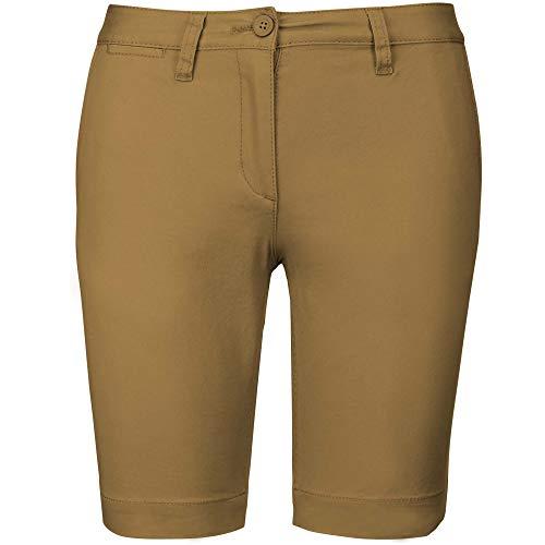 Kariban - Pantalón Corto Chino Bermuda para Chica muejr (46 EU) (Camel)