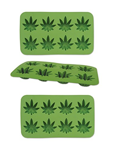 Beistle , 3 Piece Weed Ice Molds, 9' x 5.25', Green