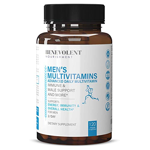 Multivitamin for Men - Supports Energy & Overall Male Health - Essential Daily Vitamins for Men, Biotin, Magnesium, Zinc & Antioxidant for Immune Health - Non-GMO Men Multivitamin Supplement, 120 Caps
