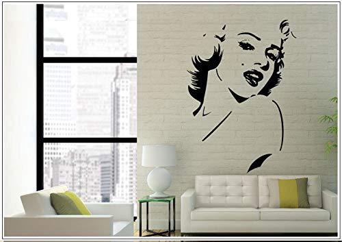 Aidai® Wandtattoo Aufkleber Porträt Marilyn Monroe wph009