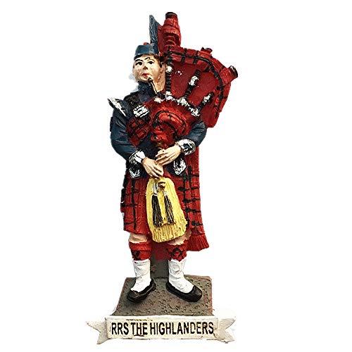 Kühlschrankmagnet, Motiv: Dudelsack & Schottenrock von RRS The Highlanders Schottland, Heim- & Küchendekoration, magnetischer Aufkleber, Schottland, UK Kühlschrankmagnet, Reise-Souvenir, Geschenk