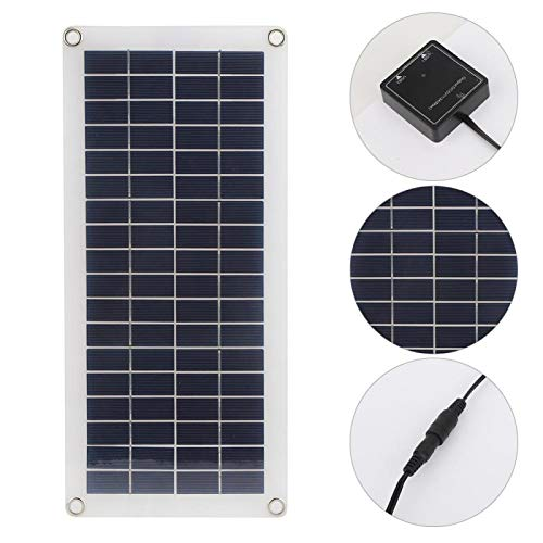Zhivafip Cargador de energía Solar Flexible USB de 10 W Flexible Panel...