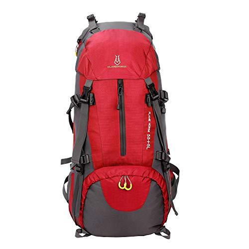 Outdoor hiking backpack Im Freien wandernder Rucksack regendichter kampierender Rucksack Männer und Frauen Nylonrucksack große Kapazität 60L
