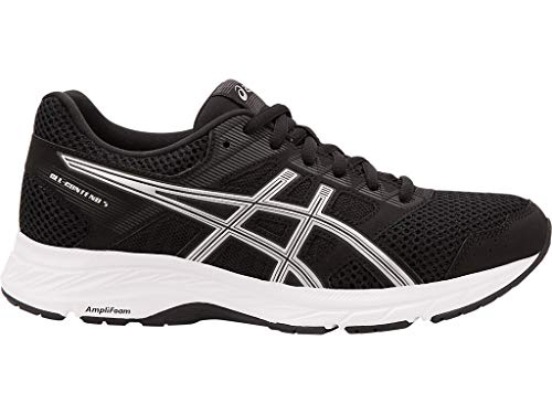 ASICS Women's Gel-Contend 5 Running Shoes, 10M, Black/Silver