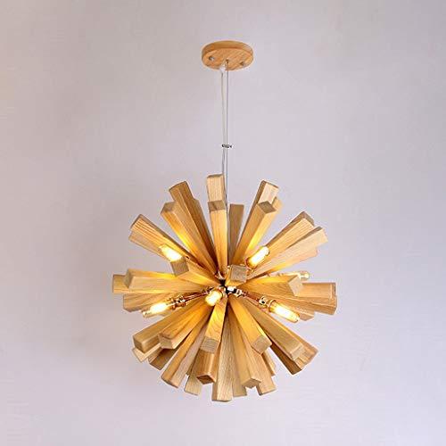DYXYH Arte nórdico Archilla Creativa Lámpara de Madera Maciza Sala de Estar Sala de Estar Estilo de país Personalidad Lámpara Colgante