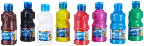 Giotto 5351 00 - Acrylfarbe 8 x 250 ml, sortierte Farben