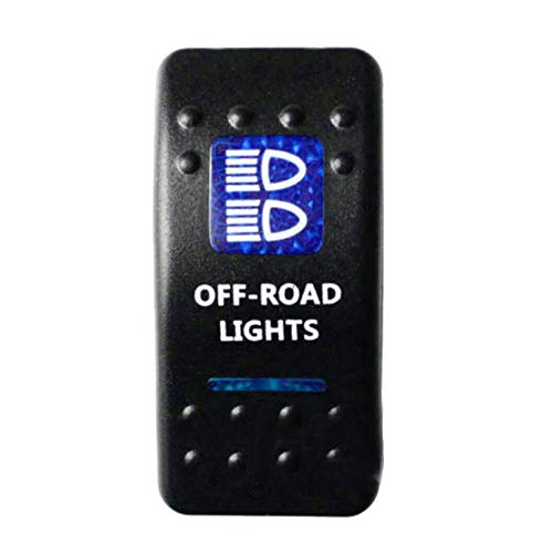 E Support&Trade; 12V Auto KFZ Blau LED Lichtleiste Beleuchtet Wippenschalter Kippschalter Auto-Armaturenbrett Schalter Off Road Light