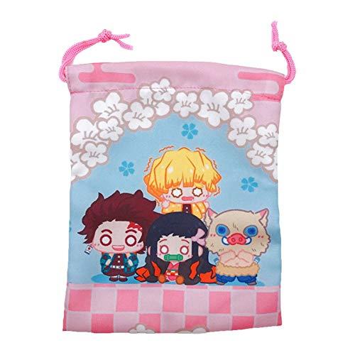Ailin Online Bolsas de regalo con cordón de tela de anime para regalo de cumpleaños, Navidad o fiesta (estilo 01)
