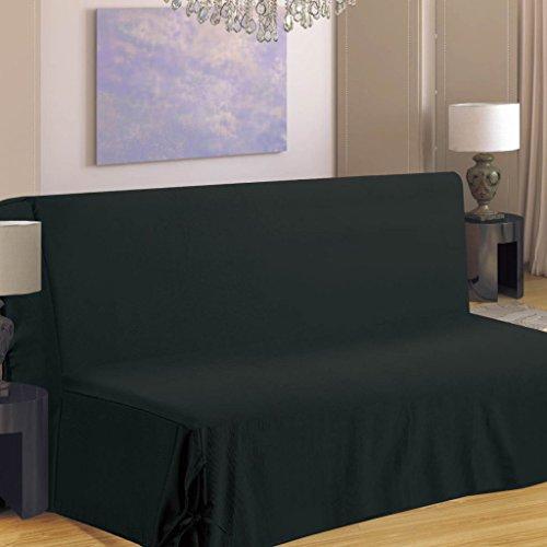 Best Interior Housse de canapé BZ Hana 2 Places - Noir - Dimensions :...