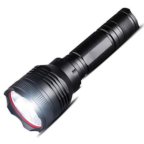 MX Lampe De Poche À L'Éblouissement LED, Lampe De Poche À Longue Portée, Mise Au Point Fixe Super Brillante, Lampe De Poche Rechargeable Domestique Extérieure,Noir,Lampe de Poche