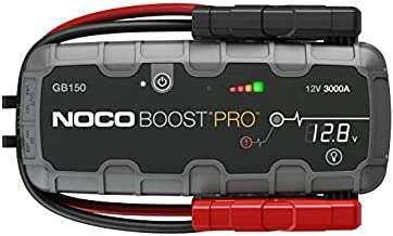 NOCO Boost Pro GB150 3000 Amp 12-Volt UltraSafe Lithium Jump Starter Box, Car Battery Booster Pack, Portable Power Bank Charger, and Jumper Cables For Up To 9-Liter Gasoline and 7-Liter Diesel Engines