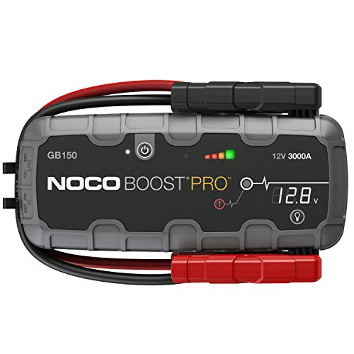 NOCO Boost Pro GB150 3000 Amp 12-Volt UltraSafe Lithium Jump Starter Box, Car Battery Booster Pack, Portable Power Bank Charger, and Jumper Cables For 9-Liter Gasoline and 7-Liter Diesel Engines