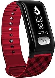 Reloj Inteligente Bluetooth SmartWatch pulsera Deportes impermeable Rastreador de fitness con monitores de presión del monitor del ritmo cardíaco del sueño de sangre for Android IOS for la Mujer Hombr