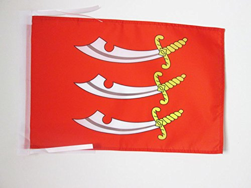 AZ FLAG Flagge GRAFSCHAFT Essex 45x30cm mit Kordel - Essex Fahne 30 x 45 cm - flaggen Top Qualität