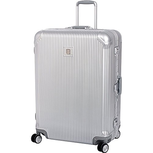 it luggage Crusader Hardside 8-Wheel Spinner, Silver, Checked-Large 31-Inch