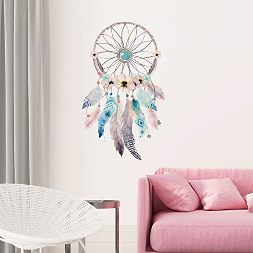 Sticker Böhmen | Wandaufkleber Traumfänger – Tapete Dekoration Raum und Wohnzimmer | 60 x 35 cm