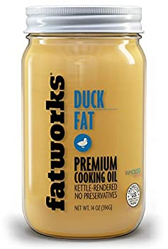 Fatworks USDA Cage Free Duck Fat Premium Gourmet Cooking Oil Kettle Rendered No Preservatives WHOLE30 KETO PALEO 14 oz