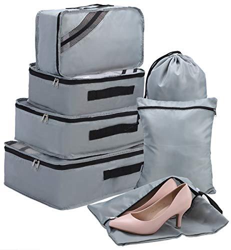 Packing Cubes Set 7-teilig, Faxsthy Packwürfel Packtaschen Kleidertaschen für Kleidung...