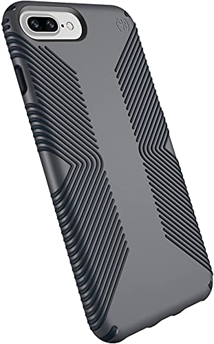 Speck Products Presidio Grip Cell Phone Case for iPhone 8 Plus, iPhone 7 Plus, 6S Plus, 6 Plus, Graphite Grey/Charcoal Grey, (Non-Retail Packaging)