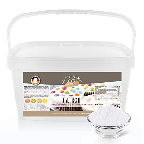 Natron Pulver 10 kg | Premium Natriumhydrogencarbonat | Backsoda | Backpulver | Wasch-Soda | hochreine Lebensmittelqualität aus Deutschland | Golden Peanut