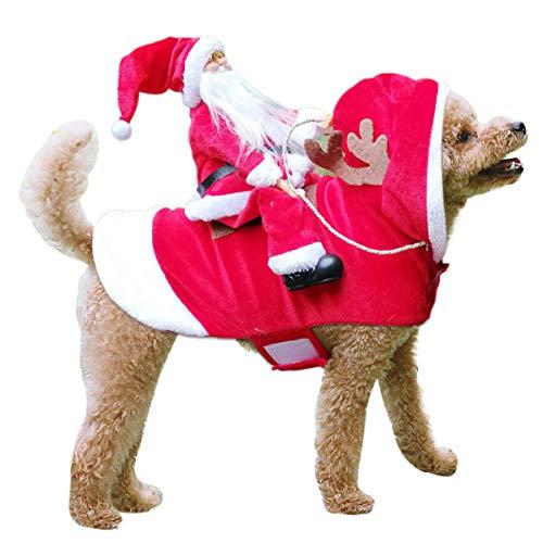TOPNEW Pet Santa Christmas Costumes Santa Dog Costume Dog Warm Apparel Party Dressing up Clothing...