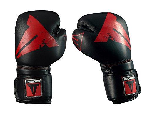 Throwdown Erwachsene Predator Boxhandschuh, schwarz/Rot, 14oz