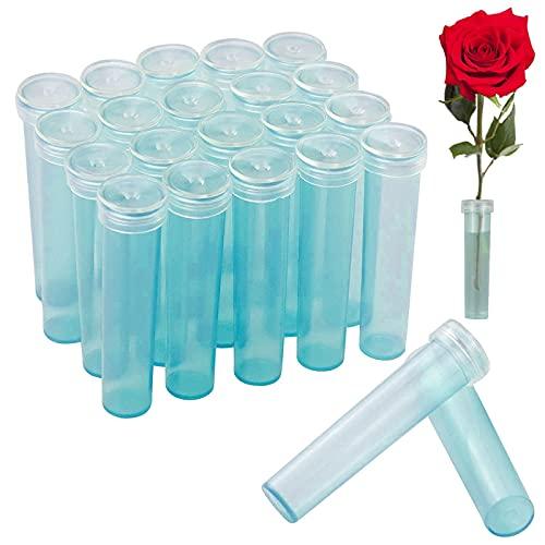 100 Piezas Tubos de Agua Florales de Plástico Tubos de Agua para Flores Tubos de Flores Transparentes Tubos de Flores para Arreglos Florales, para Arreglos Florales Floristería (7cm)