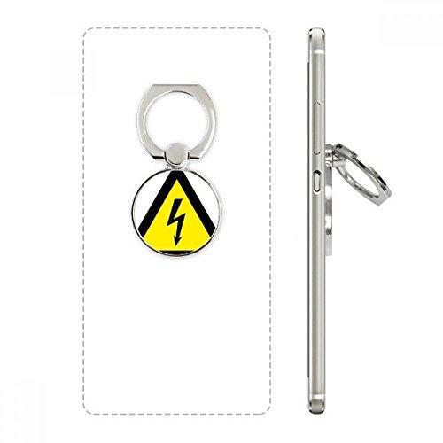 DIYthinker Warnsymbol Gelb Schwarz-Elektroschock-Dreieck Handy-Ring Ständer Halter Halterung Universal-Smartphones Unterstützung Geschenk