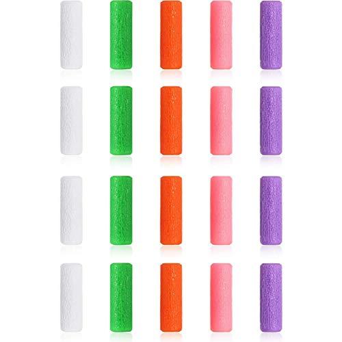 20 Stück kieferorthopädische Silikon-Chewies, Aligner Tray Seaters Chewies für Aligner Trays Chompers Aligner Trays, 5 Farben - ohne Duft, mit Erdbeer-, Minz-, Trauben- und Orangengeschmack