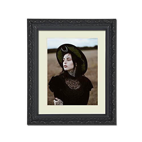 Tailored Frames – Vienna-serie, Vintage Shabby Chic foto en fotolijst in zwart met antiek witte Mounts lijst 70 x 50 cm voor A2