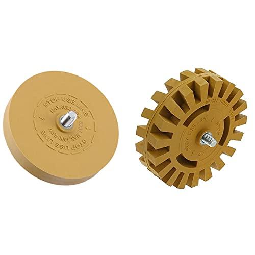 100mm 90mm Heavy Duty Pinstripe Car Decal Rubber Eraser Wheel Pad Sticker Removal Tool
