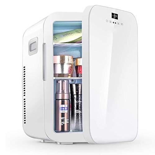 Mini Kühlschrank, 20L Skincare Kühlschrank mit Temperaturregelung, AC/DC 12V Tragbarer Thermoelectric Cooler und Wärmer for Schlafzimmer, Kosmetik, Medikamente, zu Hause und unterwegs
