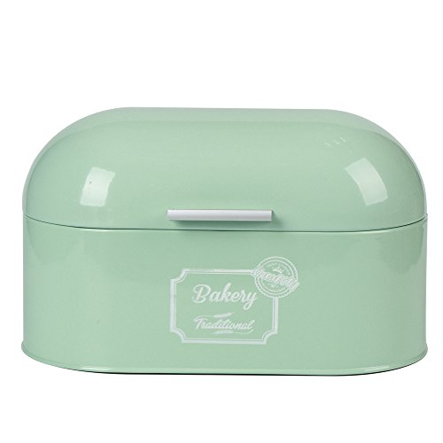 Hot Sale X680 Metal Light Green Storage Tin Canister Bread Box/Bin/kitchen Storage Containers/Gift
