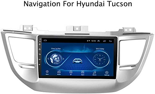 Auto Sat Nav Car Stereo Stereo 9 Pulgadas IPS Pantalla táctil Android 8.1 Compatible para Tucson 2015-2018 SWC Online/Offline Map GPS Head Unit Player Multimedia Player,4 Core 4G+WiFi 1+16GB