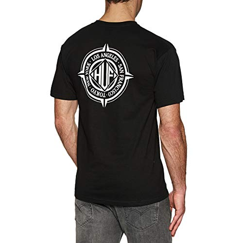 HUF Coordinates Short Sleeve T-Shirt Small Black