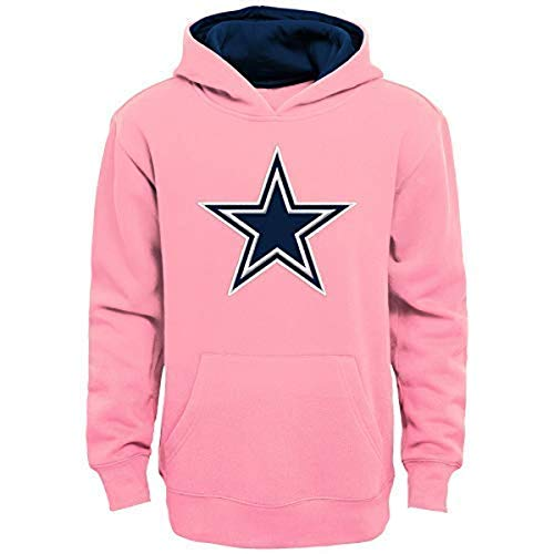 NFL Dallas Cowboys Mädchen Prime Youth Fleece Pullover Hoodie, Mädchen, Rose, Small