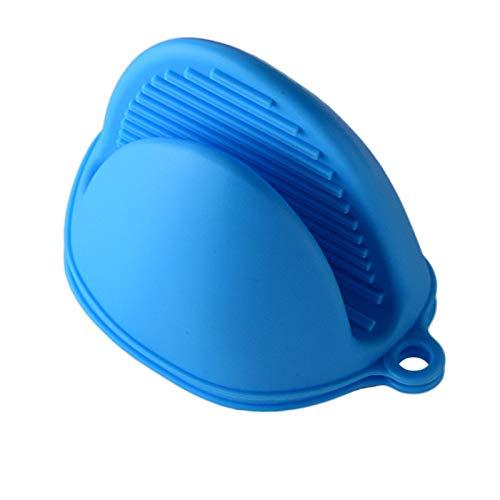 yurunn Guantes de Silicona engrosados de Alta Temperatura Azul