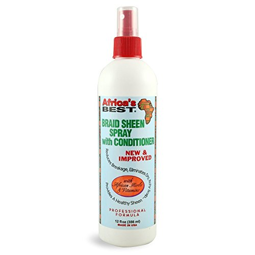 Africa's Best Braid Sheen Spray With Conditioner, 12 Ounce