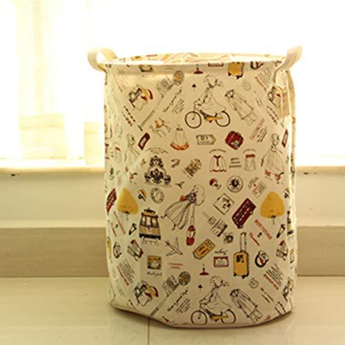 zhouweiwei Paquete de Almacenamiento de Boca de algodón y cáñamo japonés y Coreano Cubo Cerrado Bicicleta para niña Productos de Salud y Belleza para el Cuidado Personal