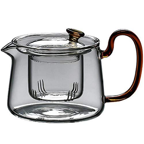 Theepotten Glazen Theepot Glazen Theepot Ketel 1 Pce Hittebestendige Verwarming Glazen Theepotten Chinese kung fu Theeset Puer Ketel Koffie Glazen Maker Kantoor Thee Pot-Goud