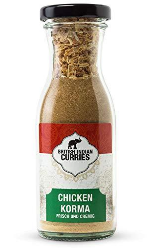 British Indian Curries - Chicken Korma nach britisch-indischer Art mit Kurkuma (Curcuma), [49g Gewürz-Mischung], vegan & ideal für indisch Kochen