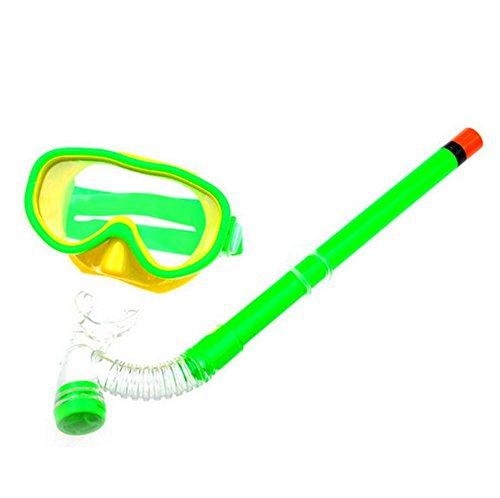 SAFLYSE Kinder Schwimmbrille Schnorchel + Taucherbrille Set Kinder-Tauchset (grün)