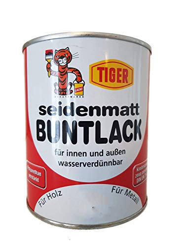 Acryllack Tiger Buntlack nussbraun 392 seidenmatt 0,75l