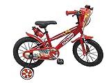 CARS - Vélo 16 Pouces de 5 à 8 Ans (25115), Multicolore (Mondo