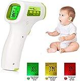 XMYL Termómetro de Frente y oído, lecturas instantáneas precisas, no-Contacto termómetro Digital Profesional para bebés, niños, Adultos